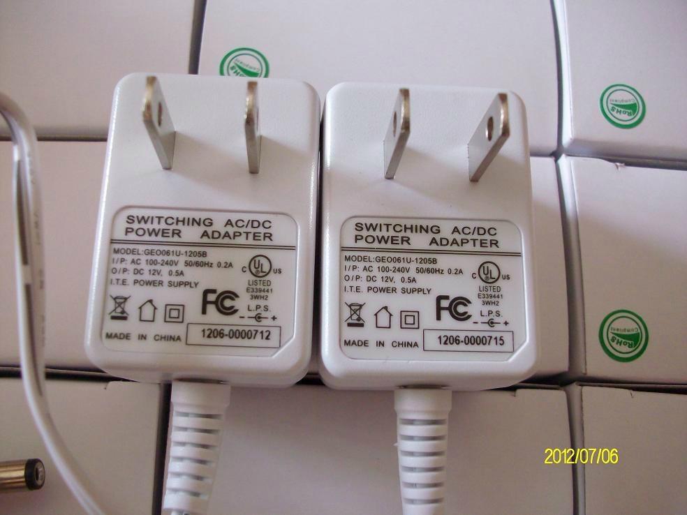 销售12V 500mA 美规开关电源,灯条电源 1