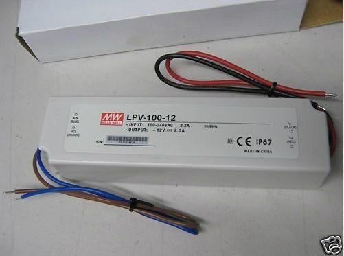 正品台湾明纬开关电源 LPV-100-12 [12V 8.5A]防水 1