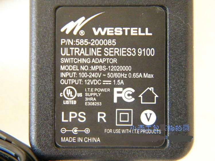 switching adaptor for Westell router  MPBS-12020000 3