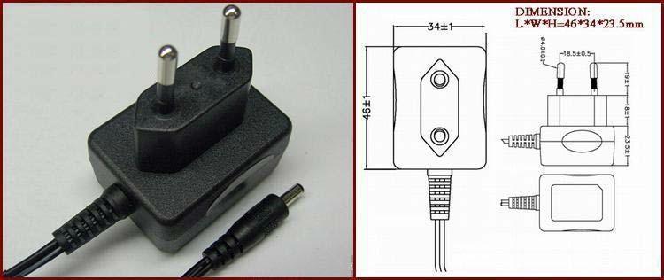 销售5V0.5A,5V1A欧规充电器 2