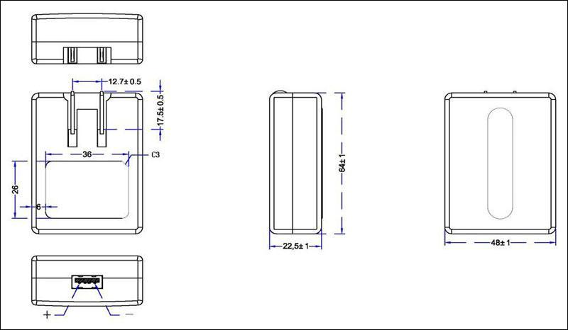 銷售美規USB 5V0.5A電池充電器&適配器 6