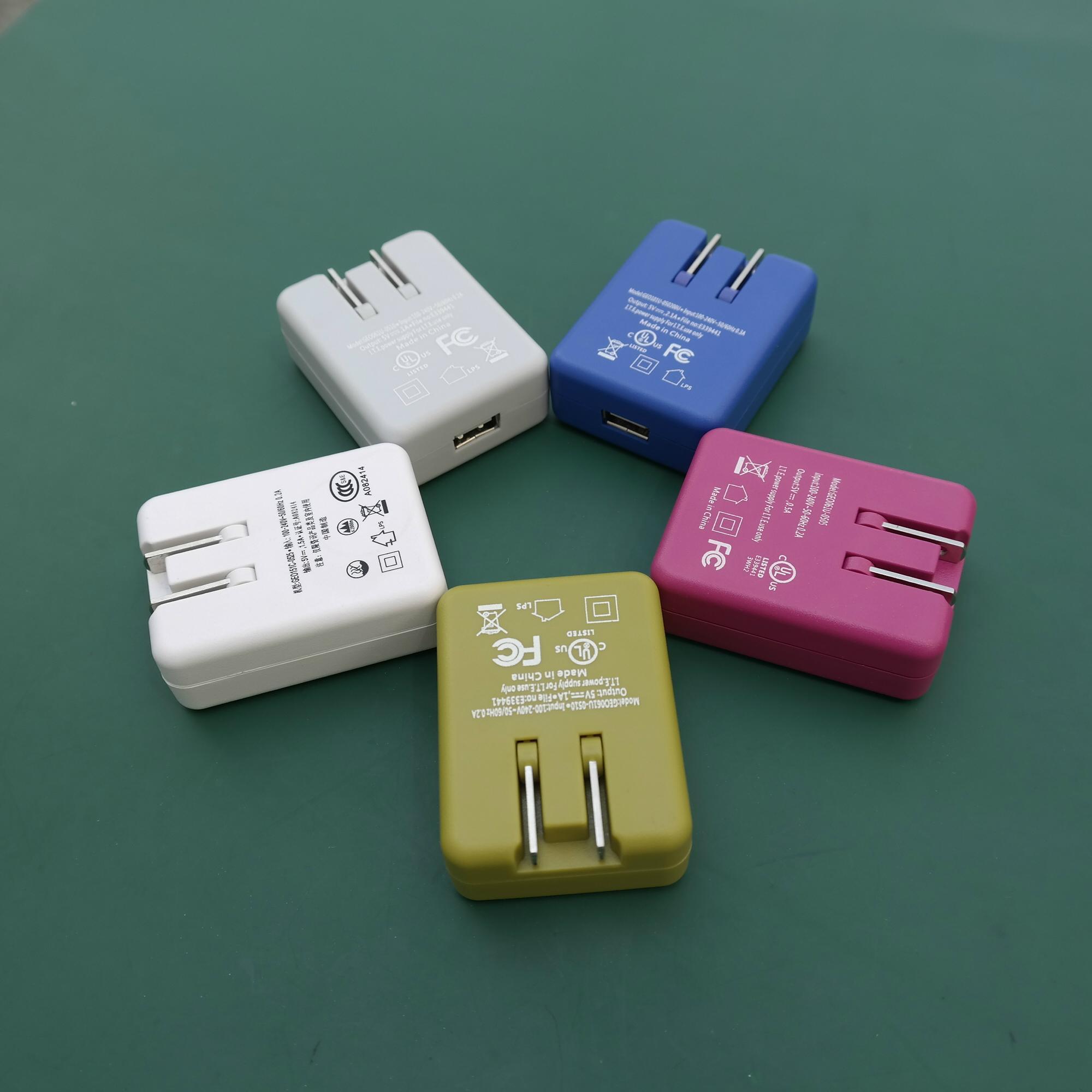 銷售美規USB 5V0.5A電池充電器&適配器 12