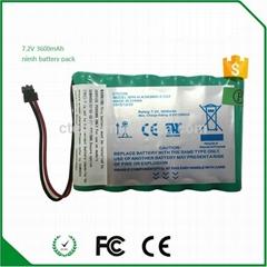 镍氢4/3A3600mAh充电电池 7.2V电池组 电动工具医疗设备组合电池