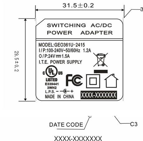 36W电源适配器 24V1.5A插墙式电源 3
