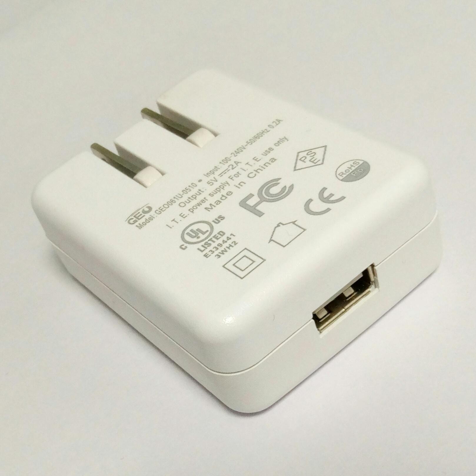 销售美规USB 5V0.5A电池充电器&适配器 14