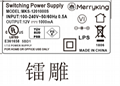 Merryking  power adapter,MKS-1201000S,12V1A power supply