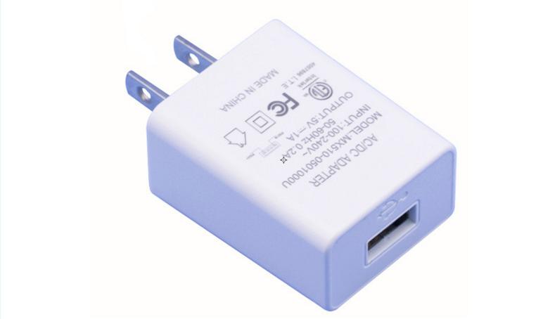 5V1A美规电源适配器 5V1000MA充电头 白色 过ETL/FCC 现货促销 1