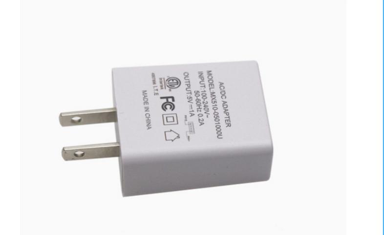 5V1A美规电源适配器 5V1000MA充电头 白色 过ETL/FCC 现货促销 2