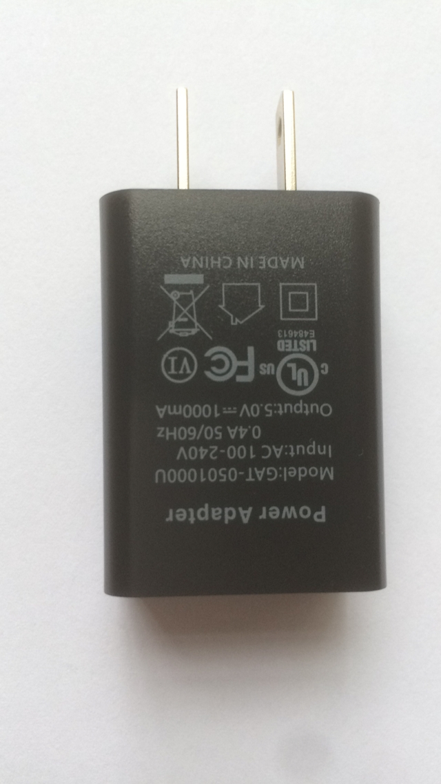 wholesales UL Listed Universal US 5V1A USB Wall Charger Plug,black type,in stock 2