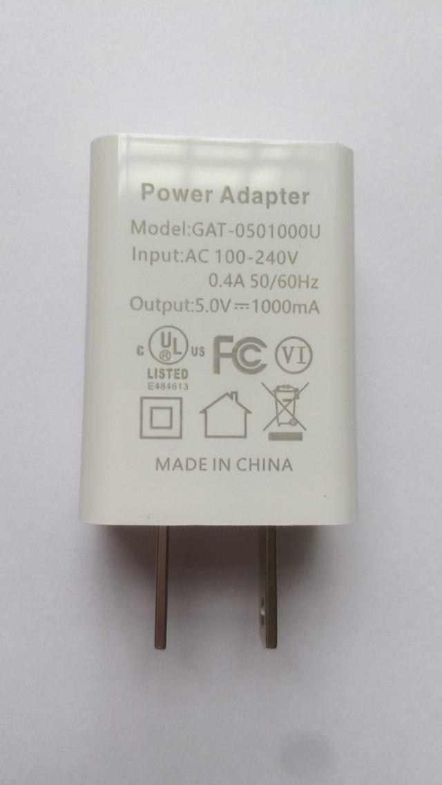 批發UL認証充電器5V1A,出口美國,白色 1