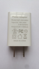 wholesales UL Listed Universal US 5V1A USB Wall Charger Plug,white type,in stock