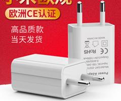 批發CE認証充電器5V1A,黑白兩色