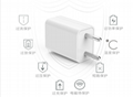 wholesales 5V1A EU USB wall adapter,White/Black