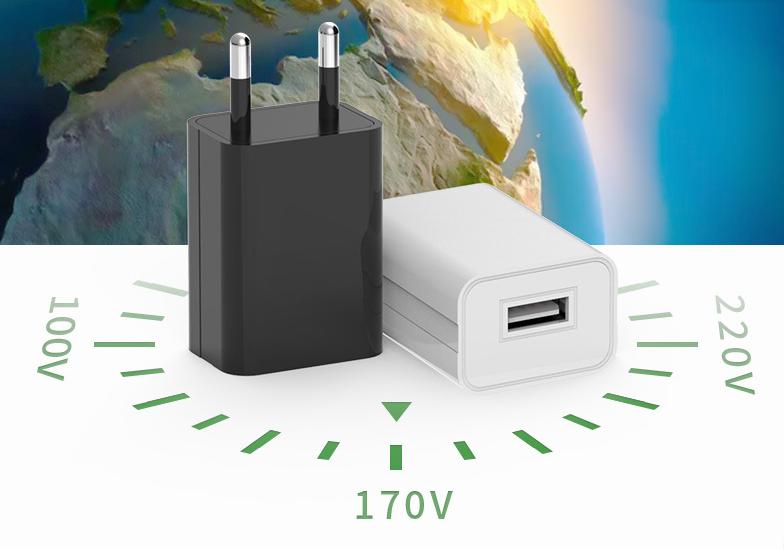 批發CE認証充電器5V1A,黑白兩色GAT-0501000 7