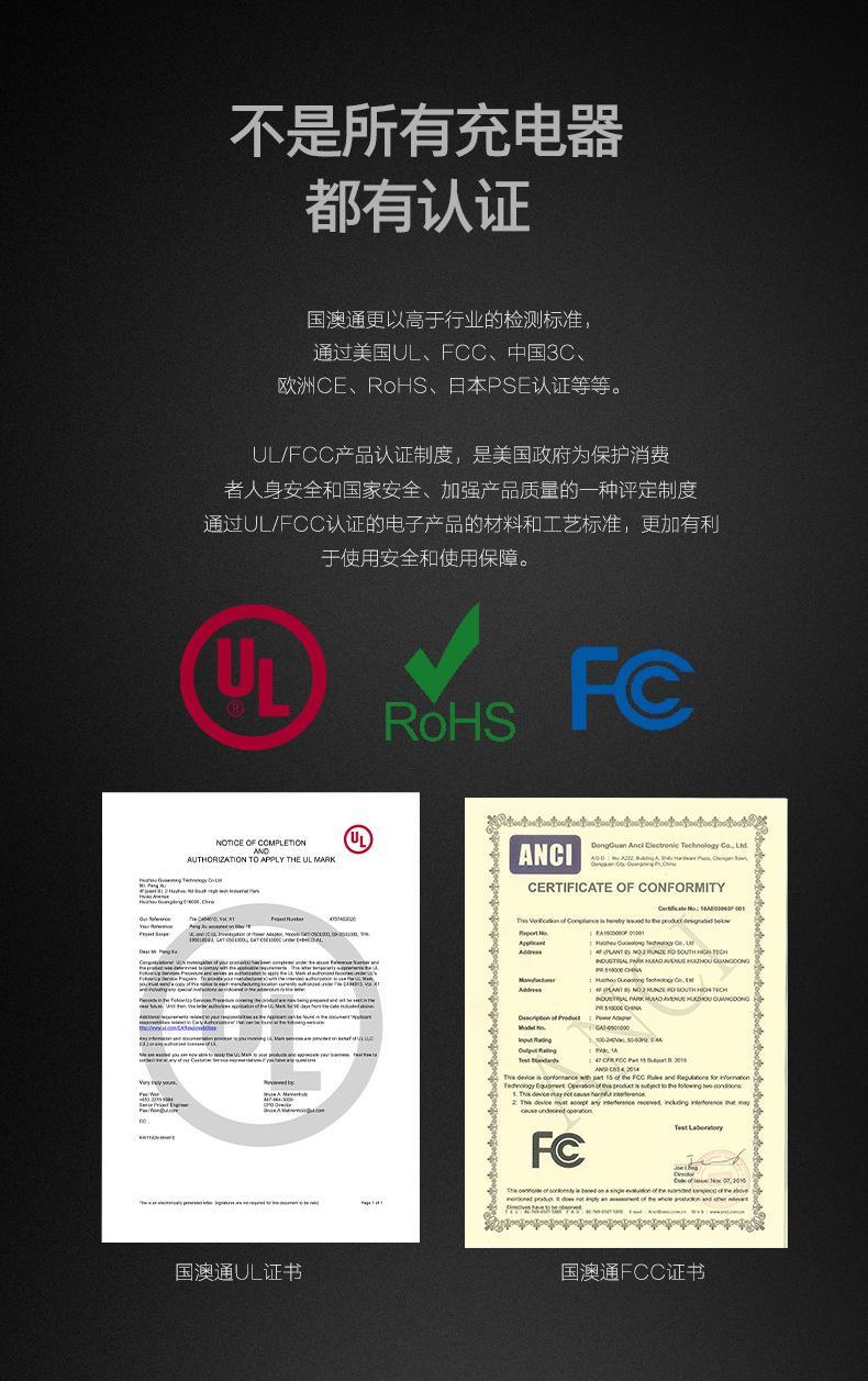 批发UL认证充电器5V2A,出口美国,白色 3
