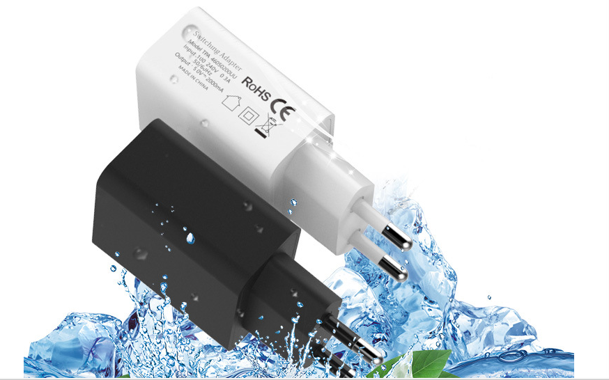 wholesales EU 5V2A USB Wall Charger Plug,white/black 2