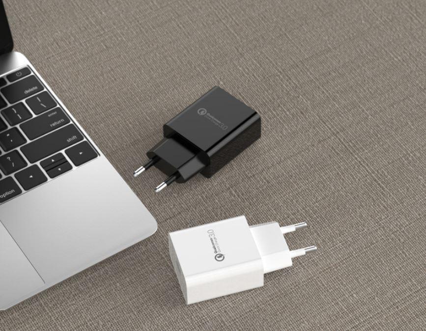 批發CE認証快充手機USB充電器 歐規QC3.0通用充電頭 高端外貿款充電器 4