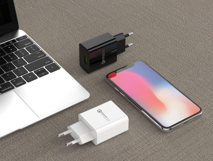 批發CE認証快充手機USB充電器 歐規QC3.0通用充電頭 高端外貿款充電器 5