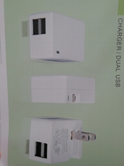5V2.1A 雙USB充電器 型號GEO151U-050200U
