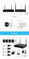 Sricam NVS001 SriHome 4CH Wifi NVR Kit 1080P Waterproof Security IP CCTV Wireles