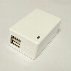 5V2.1A 雙USB充電器 型號GEO101U-050200U