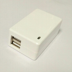 Wholesales 5V2.1A DUAL USB charger,adapter,Model GEO101U-050200U