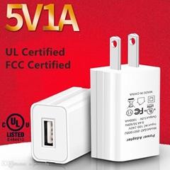批發UL認証充電器5V1A,出口美國,黑白兩色