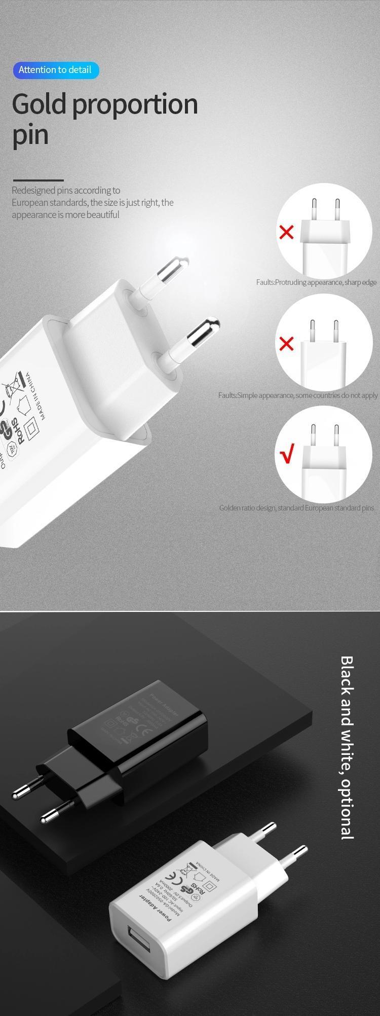 批發CE認証充電器5V1A,5V2A,出口歐洲 8