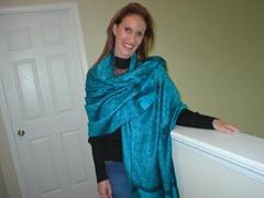 100%人棉女士保暖围巾