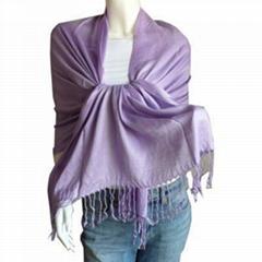 時尚素色羊毛圍巾