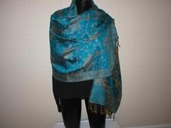 杭海丝绸时尚人棉提花围巾 披肩