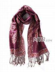 时尚提花围巾