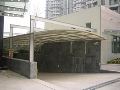 广州雨棚阳光棚不锈钢遮阳蓬