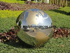 stainless steel gold painting sphere