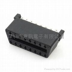 OBD2焊线式汽车连接器