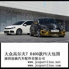 PU R400 bumper body kit for vw golf MK7 GTI R20