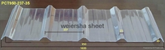 transparence polycarbonate corrugated sheet used for greenhouse roofing