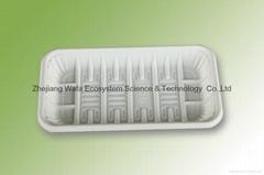 环保可分解生鲜托盘、玉米淀粉降解托盘、一次性食物托盘