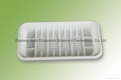 環保可分解生鮮托盤、玉米澱粉降解托盤、一次性食物托盤