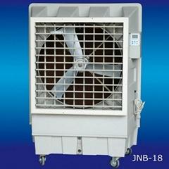 Movable evaporative air cooler