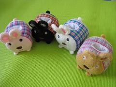 毛絨玩具法國兔手機座