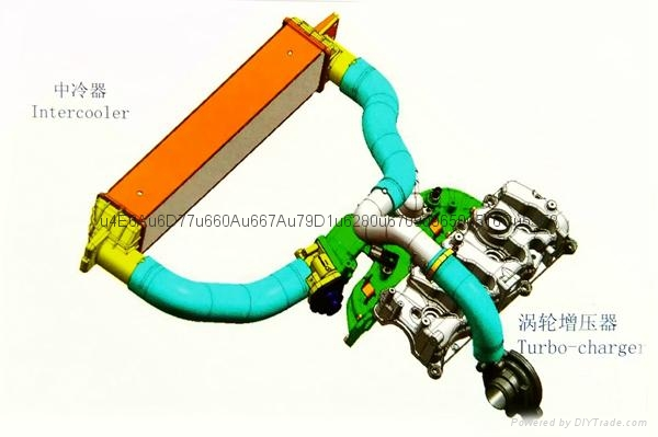 air charge hose 8 feeding  production line  2