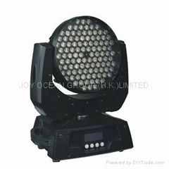 LED Moving Head Light with 12 Channels, Button and Display Function Setting