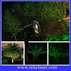 Stationary green firefly outdoor Christmas laser lighting for house decoration
