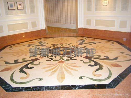 Tokyo disneyland hotel waterjet marble pattern floor for Beauty stone fireplaces