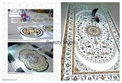 Stone Floor waterjet medallion pattern