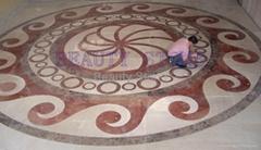 Waterjet Marble Pattern Flooring
