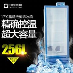 256L大容积17度猪精液恒温冰箱