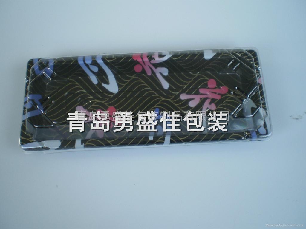 一次性红金寿司盒外卖打包盒  2