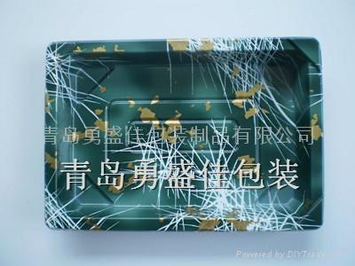 一次性红金寿司盒外卖打包盒  3